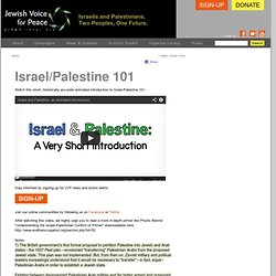 Israeli-Palestinian Conflict 101