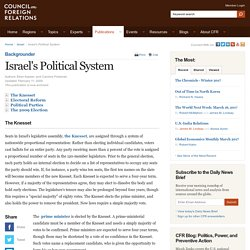 Israel's Political System