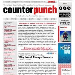 Jeffrey Blankfort: Why Israel Always Prevails