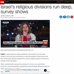 Israel's religious divisions run deep, survey shows