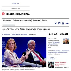 Israel's Tzipi Livni faces Swiss war crimes probe