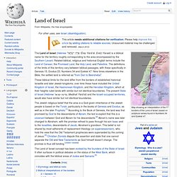 http://en.wikipedia.org/wiki/Land_of_Israel