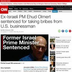 Ex-Israeli PM Ehud Olmert sentenced in bribery case