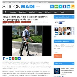 Start up israël- Paraplégiques peuvent remarcher!