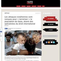 Les attaques israéliennes sont conçues pour « terroriser » la population de Gaza, disent des spécialistes du droit international