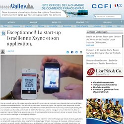 Exceptionnel! La start-up israélienne Xsync et son application.