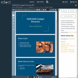ISRE2005 Gadget Reviews PPT