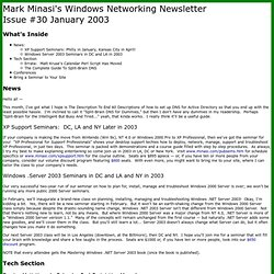 Issue #30 January 2003