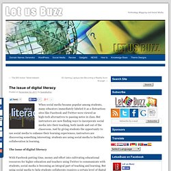 The issue of digital literacy