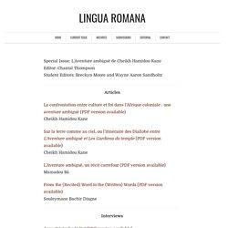 Vol. 10, Issue 1, Fall 2011 - Lingua Romana