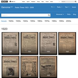 Radio Times issues from 1923
