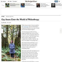 11/2/15: Gay Issues Enter the World of Philanthropy