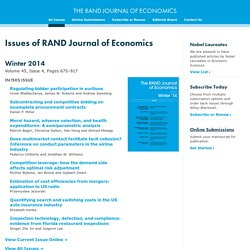 The RAND Journal of Economics