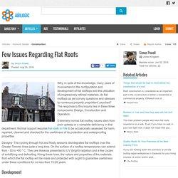 Few Issues Regarding Flat Roofs in Fife