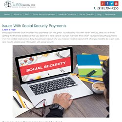 Issues With Social Security Payments