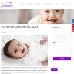 Ethic Issues WithSurrogacy Solved