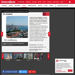 19- Istanbul : Le classement des villes les plus peuplées du monde