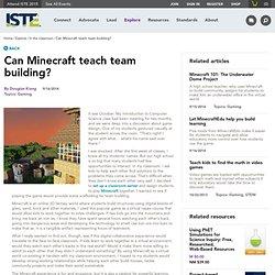 Can Minecraft teach team building?