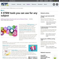 5 STEM tools you can use for any subject