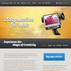 iStopMotion: Mac Stop Motion and Time Lapse Software