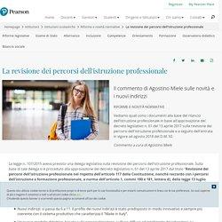 La revisione dei percorsi dell'istruzione professionale
