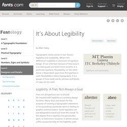 It's About Legibility - Fonts.com