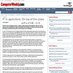 IT in agriculture: On top of the crops