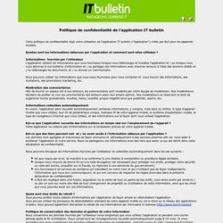 IT bulletin - Sharing IT Expertise