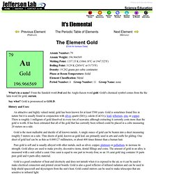 The Element Gold