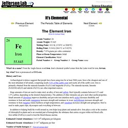 The Element Iron