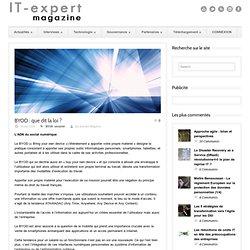 expert Magazine BYOD : que dit la loi ?