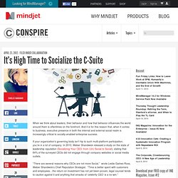 It's High Time to Socialize the C-Suite