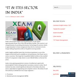 """IT & ITeS Sector In India"""
