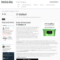 IT-klubben! – Patricia Diaz