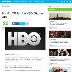 It's Not TV, It's the HBO iPhone App
