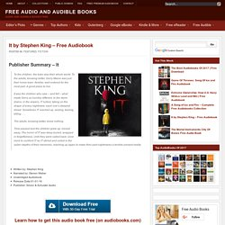It by Stephen King - Free Audiobook