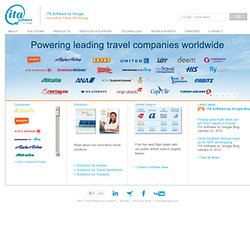 ITA Software - Solving the Travel Industry's Most Complex Problems