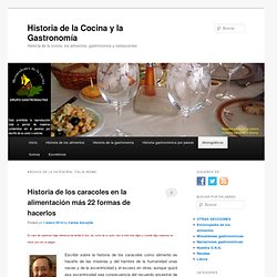 Historia de la Cocina y la Gastronomía