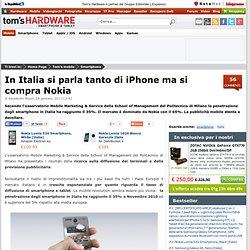 In Italia si parla tanto di iPhone ma si compra Nokia