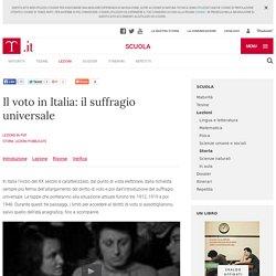 Il voto in Italia: il suffragio universale