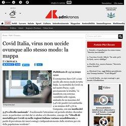 Covid Italia, virus non uccide ovunque allo stesso modo: la mappa