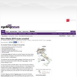 Giro d'Italia 2015 route unveiled