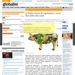 In Italia è boom di vegetariani: 1 su 10 dice addio alla carne