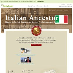 Ancêtres Italiens — FamilySearch