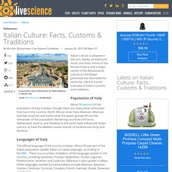 Italian Culture: Facts, Customs & Traditions