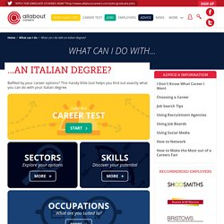 What can I do with an Italian degree?