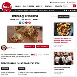 Italian Egg Bread Bowl Recipes