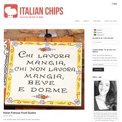 Italian Famous Food Quotes -