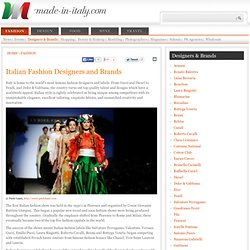Italian Fashion: Designers and Brands