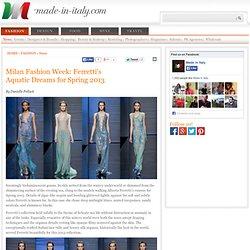Italian Fashion News: Ferretti's Aquatic Dreams for Spring 2013